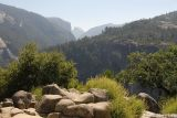 First view of the Valley, Half Dome in the distance