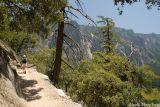 Heading up the Yosemite Falls trail.