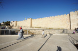 Jerusalem city wall near Jaffa Gate