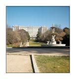 Palacio Real - Fountain of Shells in Parque del Campo del Moro