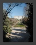 Palacio Real through the Parque del Campo del Moro