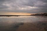 Bridlington beach in January