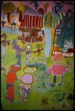 Detail Paul Gent's Mural with children - Plemetina