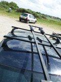 Having a close look at Cliff's roof rack