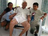 Sotos with grandchildren Natasa & Stefanos - Aug 2003