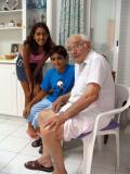 Sotos with grandchildren Natasa & Stefanos - Aug 2004