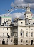 Horse Guards Parade and Millenium wheel (background), London