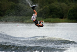 Female wakeboarder