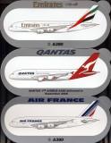 A380s QF-AF-EK.