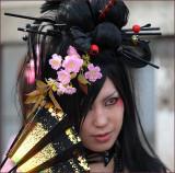 gothic flower girl, Harajuku Japan