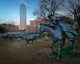 Sculptures at Pioneer Plaza