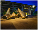 Sculptures in front of city hall