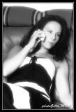 Salomé at phone