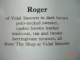Roger the model.