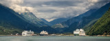 Cruise ships at Skagway