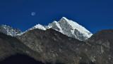 Moon over Lukla