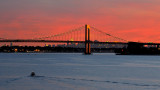 Throggs Neck Bridge and Manhattan Skyline from Kings Point