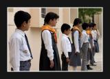 students form an honour guard
