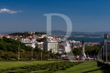 Pq. Eduardo VII, Mq. Pombal, the Castle and the River Tagus