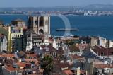 Sé Patriarcal de Lisboa vista de São Pedro de Alcântara