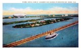 1932 - the Goodyear Blimp flying over County Causeway, Miami