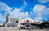 1959 - TWA Constellation on Concourse 3 at the new Miami International Airport terminal before the hotel was added to the roof