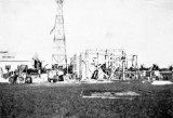 1935 - engine test building under construction at Naval Reserve Air Base Miami (now Opa-locka Executive Airport)