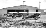 Early 1930's - a Curtiss F8C (left) and Naval Reserve N2C's at Naval Air Reserve Base Miami at Opa-locka