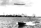 1929 - the U. S. Navy's 655 foot USS LOS ANGELES ZR-3 flying over Miami