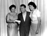 1950's - Bobye Jo Kirkland, Hialeah Mayor Henry Milander and Ida Snow of Snow's Jewelers