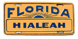 1950's - front bumper license plate for Hialeah