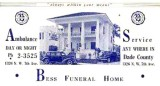 1940's - Bess Funeral Home, 1326 N. W. 7th Avenue, Miami
