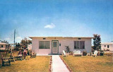 1950's - a solid concrete Atom bomb proof flat roof Hialeah home typical of the homes in the Suntan Village section