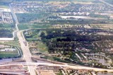Early 1980's - looking north over the Big Bend of the Palmetto expressway and Miami Lakes