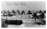 1940s - the Officers swimming pool at Naval Air Station Miami