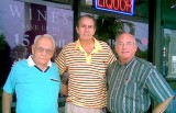 October 2008 - retired long-time Hialeah High School coaches Mike Feduniak and Chuck Mrazovich with Eric Olson