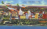 1941 - Navy Douglas TBD torpedo bombers from NAS Miami at Opa-locka flying past downtown Miami