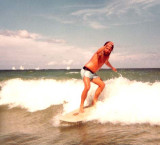 1985 - Terry Bocskey surfing at Dania Beach