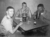 1969 - unknown, Jim Hunt and Terry Bocskey (Hialeah's Hogan's Heroes) showing off their great Army hairstyles at a bar in SC