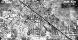 1938 - aerial view of Miami Springs and part of Hialeah, Florida
