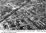 Early 1964 - the southeast section of Hialeah including Deer Park and Miami Springs on the left