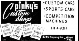 Late 1950's - ad for Pinky's Custom Shop