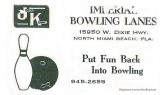 1966 - ad for Imperial Bowling Lanes on West Dixie Highway in North Miami Beach