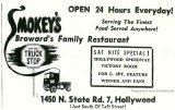 1966 - ad for Smokey's Family Restaurant on State Road 7 in Hollywood