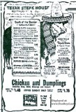 1966 - ad for the Texan Steak House in Oakland Park