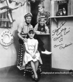 Popeye's Playhouse with Scrubby (top), Skipper Chuck (middle left), Uncle Don (middle right) and Annie Orphanic (bottom)