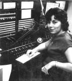 1963 - Sheila Strotman Coppala working the PBX at North Miami General Hospital