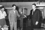 1950 - Byron Creel receiving an award for having the cleanest shop at Aerodex in the MIAD section of Miami International Airport