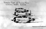 1944 - a formation of training aircraft from Naval Air Station Miami inflight