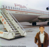 1970 - Richard Silagi's first airplane trip on PSA at San Jose, California